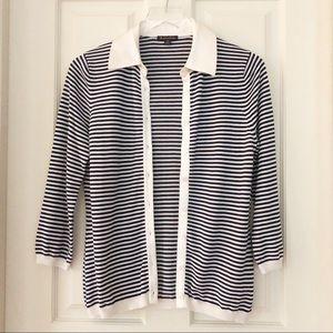 Brooks Brothers | Silk Blend Striped Cardigan